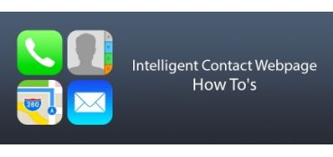 Intelligent Contact Webpage: How  To's